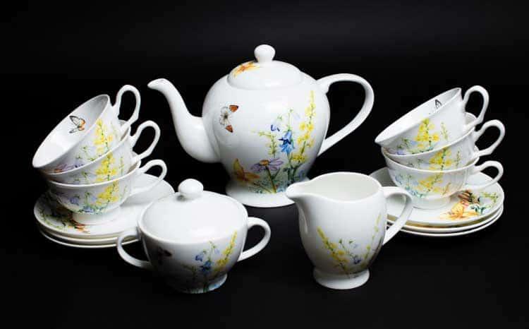 Дейзи Бабочки Чайный сервиз Rulanda на 6 персон 15 предметов