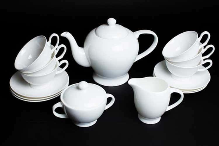 Белый Чайный сервиз Rulanda на 6 персон 15 предметов