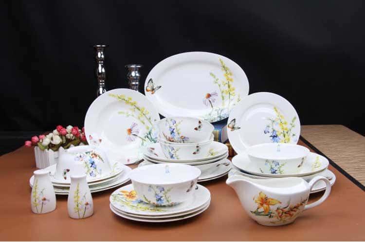 Дейзи Бабочки Чайно-столовый сервиз 6 персон 45 предметов Rulanda
