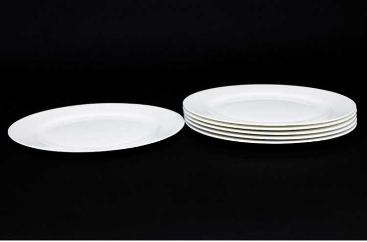 Белый Набор тарелок 6 шт. 20 см Rulanda