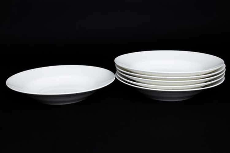 Белый Набор тарелок 6 шт. 23 см (суп) Rulanda