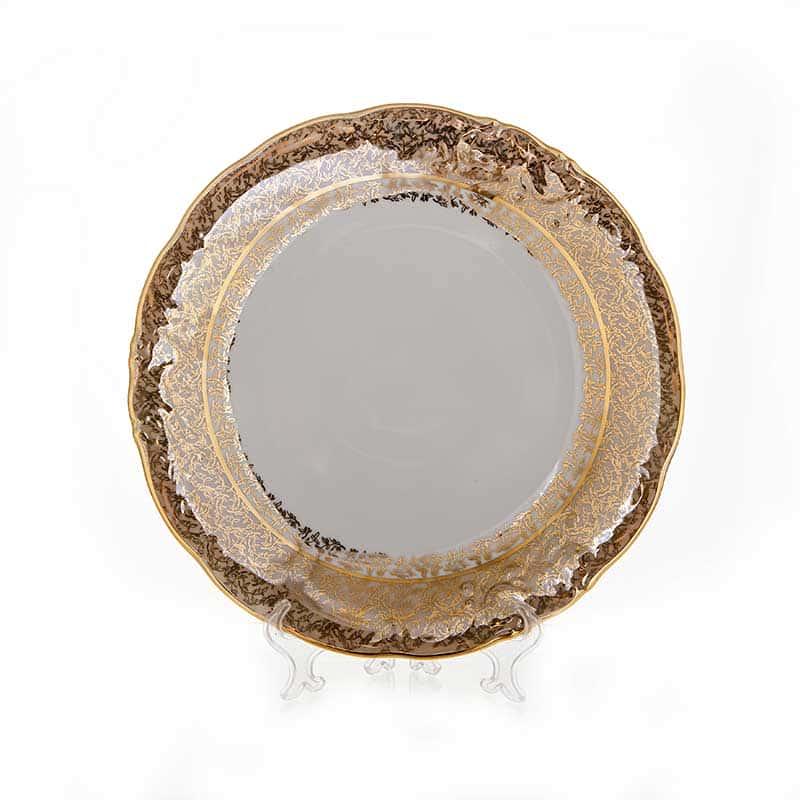 Лист бежевый Блюдо круглое Carlsbad 30 см.