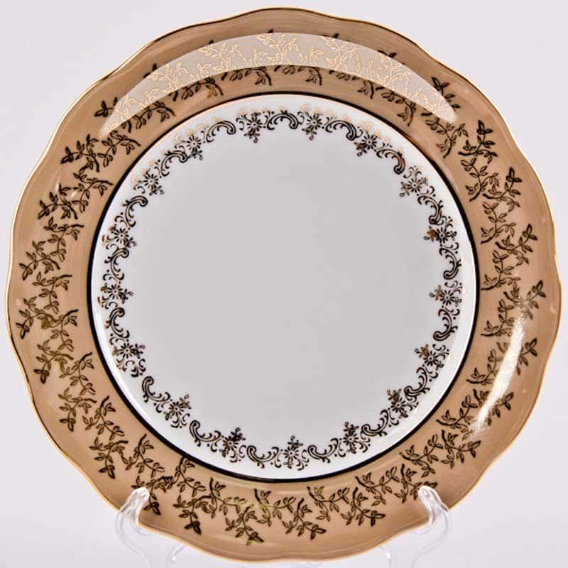 Лист бежевый Набор тарелок глубокие 23 см. 6 шт. Carlsbad