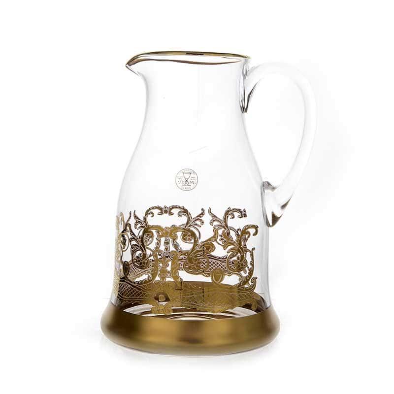 Тимон золото Кувшин 1,2 л. из стекла