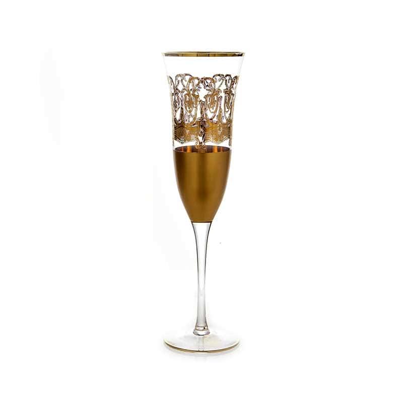 Тимон золото Набор фужеров для шампанского на 6 перс.