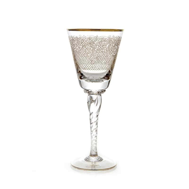 Тимон золото Набор бокалов для вина на 6 перс.витая ножка