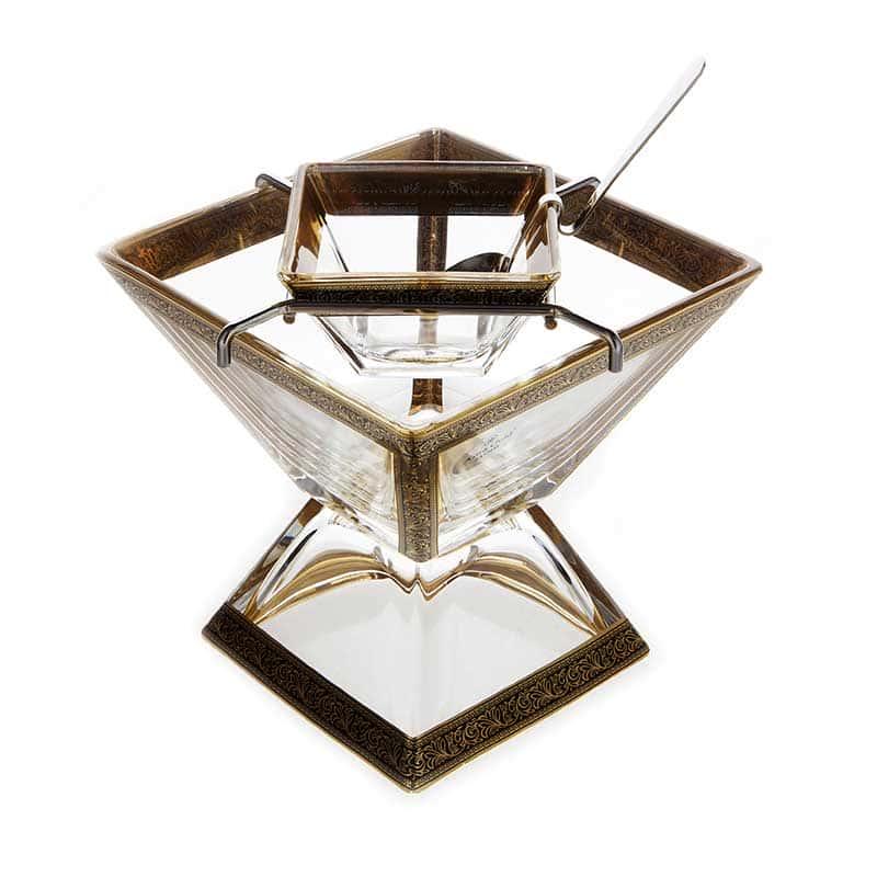 Лилит Ваза для конфет Astra Gold на ножке 14*14 см.
