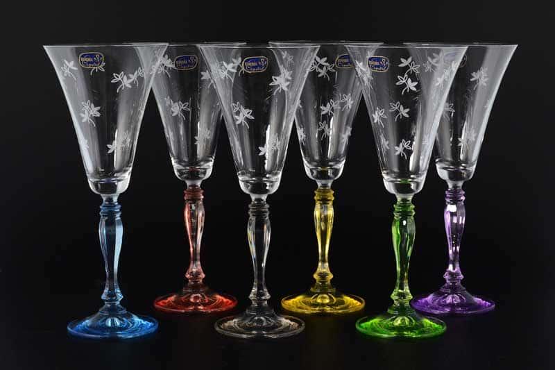 Victoria engraved Набор бокалов для вина Bohemia Crystal 190 мл