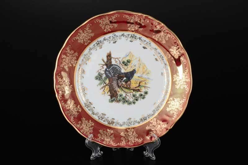 Фредерика Охота Красная Набор тарелок Carlsbad 21 см