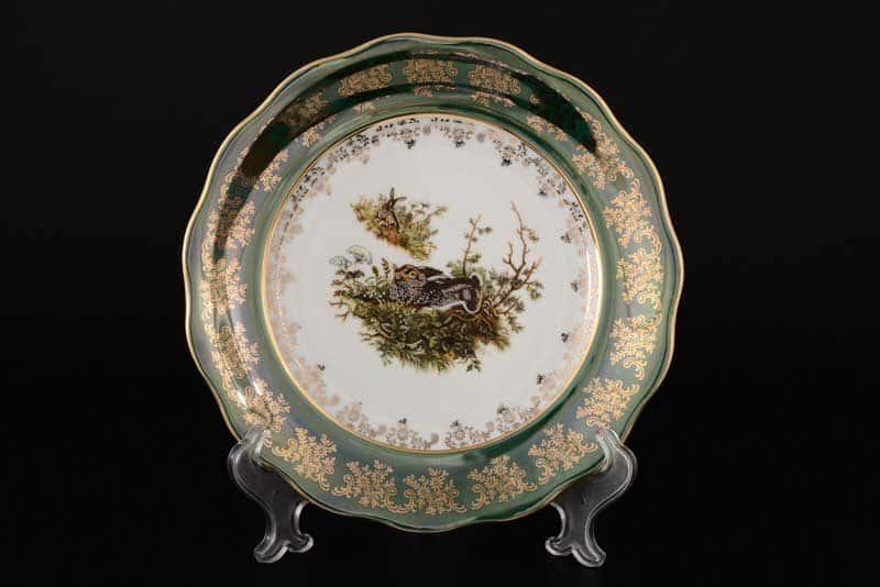 Царская Зеленая Охота AL Набор тарелок Carlsbad 25 см из 6 штук