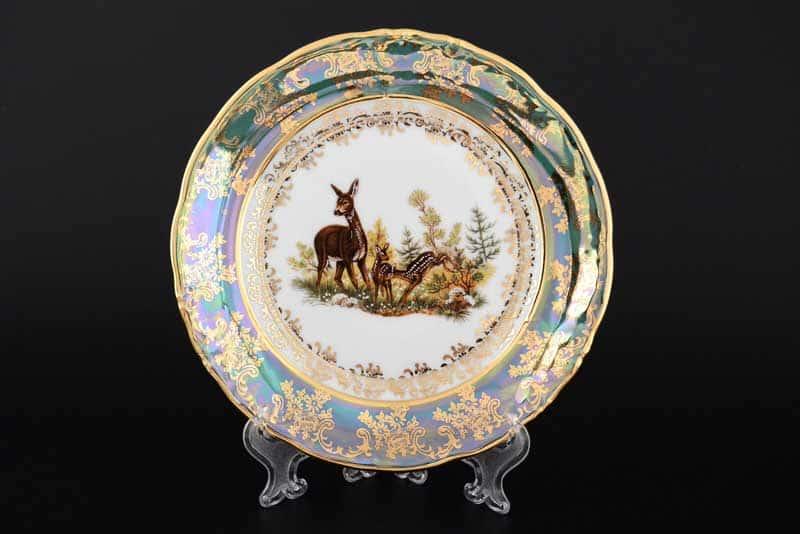 Фредерика Охота Зеленая Набор тарелок 17 см Roman Lidicky (6 шт)