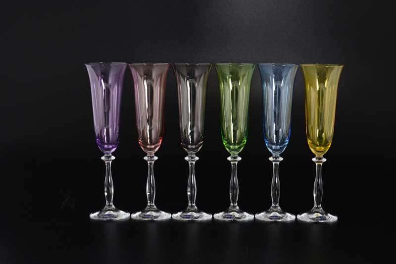 40600D4651 Набор фужеров для шампанского Bohemia Crystal 190 мл (6 шт)