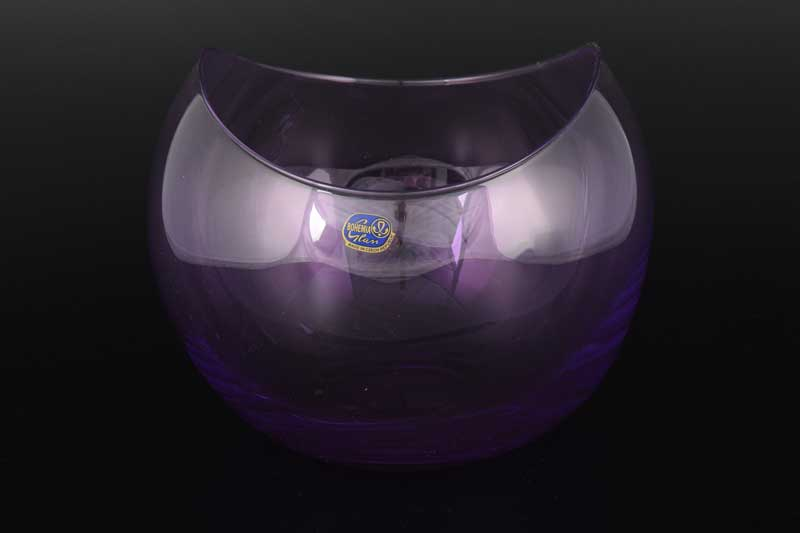 Gondola Кристалекс Конфетница фиолетовая Bohemia Crystal 16х19 см