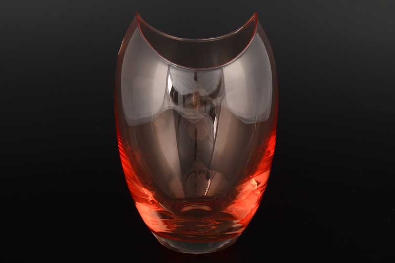 Gondola Кристалекс Ваза для цветов красная Bohemia Crystal 26х14 см