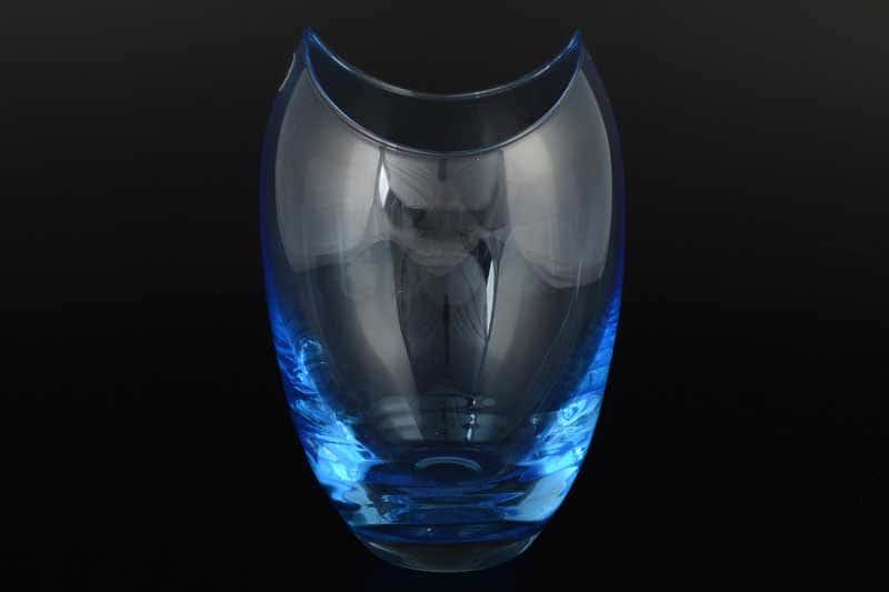 Gondola Кристалекс Ваза для цветов голубая Bohemia Crystal 26х14 см
