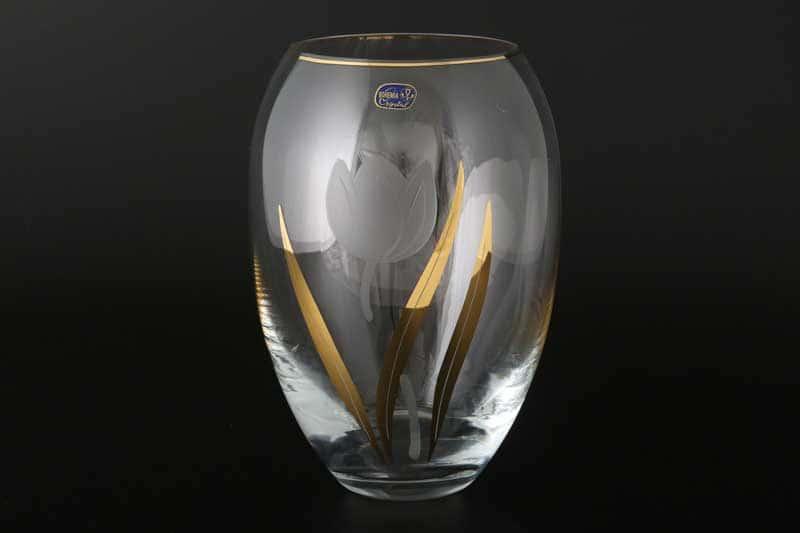 Идеал Тюльпан Ваза для цветов Bohemia Crystal 22 см