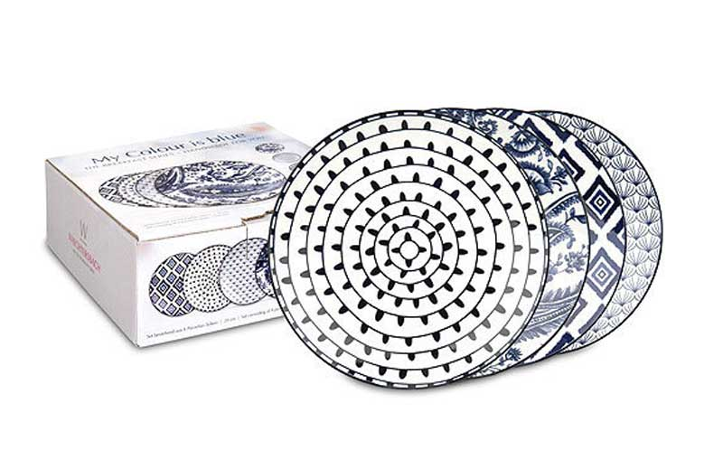 My Color Is Blue Набор тарелок Waechtersbach 21 см 4 шт.