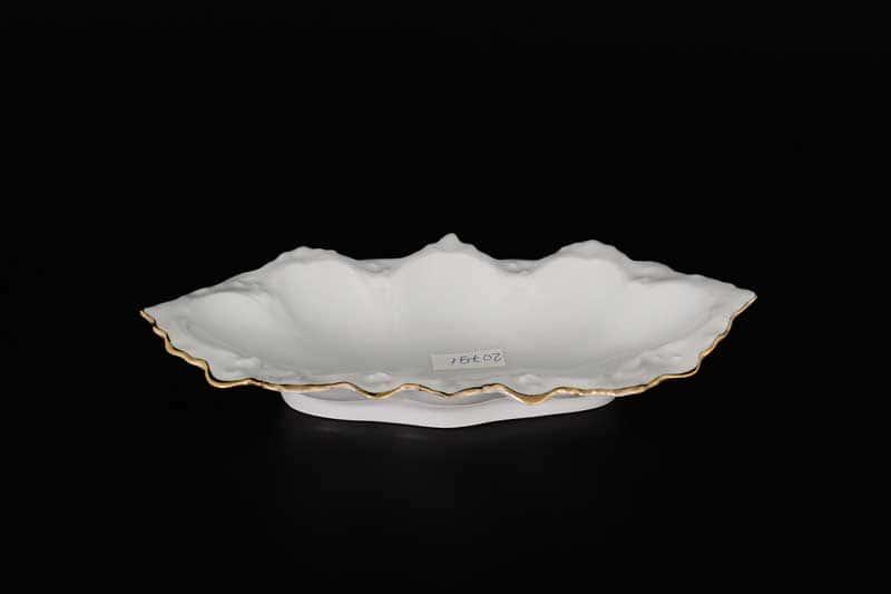 Белый узор Корона Блюдо (Селедочница) QC 21 см