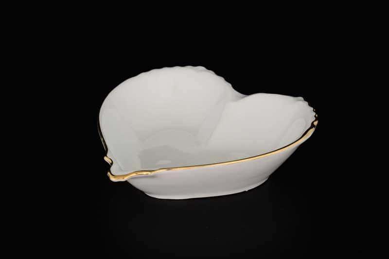 Белый узор Корона Конфетница Сердце QC 15 см