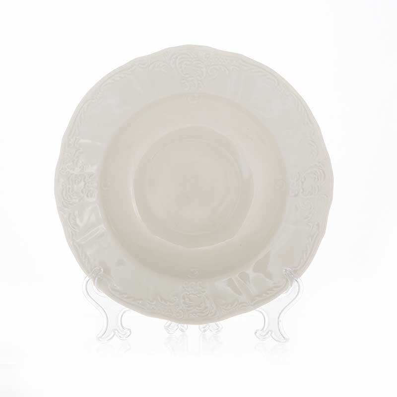 Бернадотт Платиновый узор BE-IVORY 3632021 Тарелка глубокая 23 см (1 шт)
