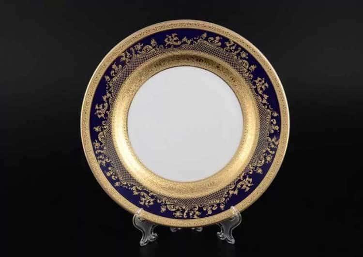 Constanza Cobalt Gold 9320 Набор тарелок Falkenporzellan 27 см  (6 шт)