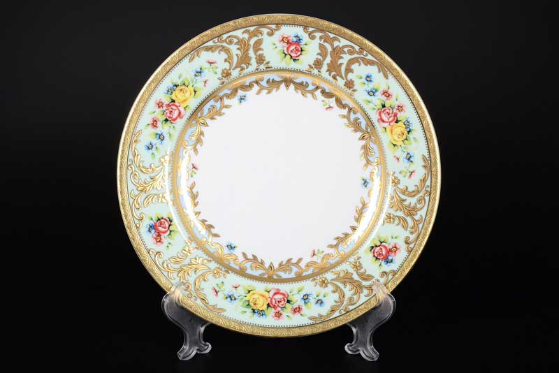 VIENNA SELADON GOLD Набор тарелок 26,5 см (6 шт) FalkenPorzellan