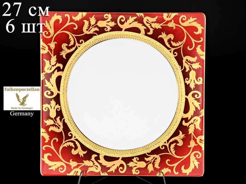 Tosca Bordeaux Gold Набор тарелок Falken 27 см (6 шт)