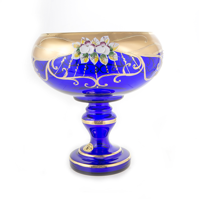 Лепка синяя 6333 Ваза для фруктов U. Glass 24 см.