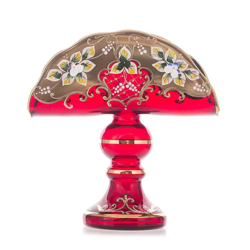 Лепка красная Салфетница на ножке Union Glass