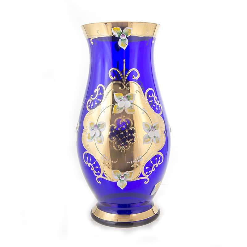 Лепка синяя 83219 Ваза для цветов U. Glass 26 см