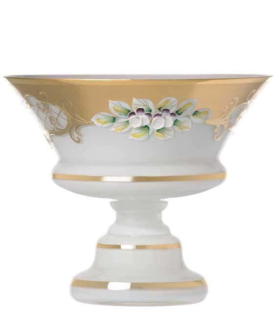 Лепка белая 5365 Ваза для конфет на ножке U. Glass 15 см