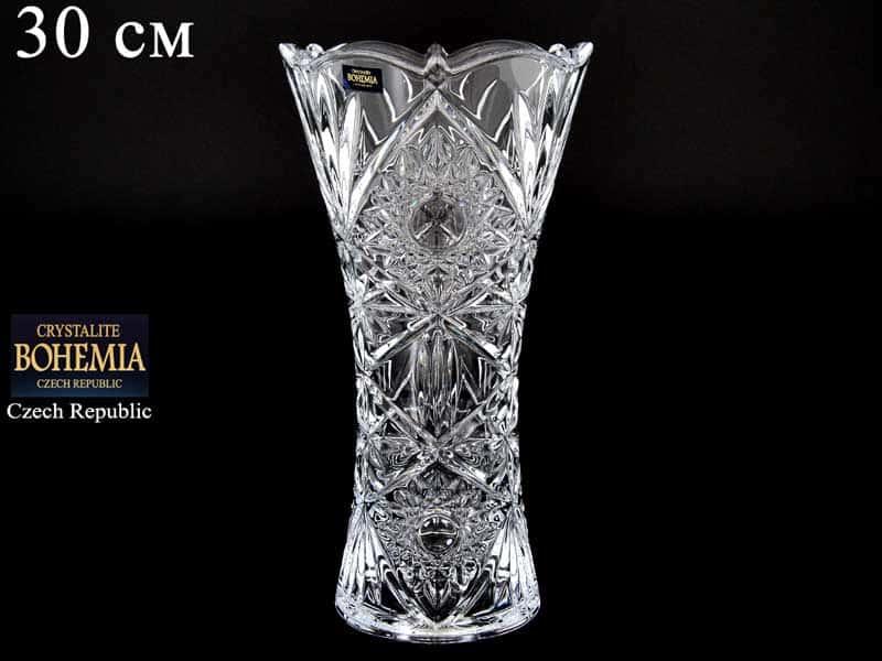 MIRANDA Х Ваза для цветов 30 см Crystalite Bohemia 38299