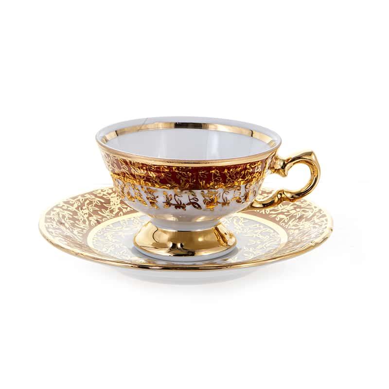 Лист красный Набор для кофе-мокко Carlsbad на 6 перс. 12 шт.