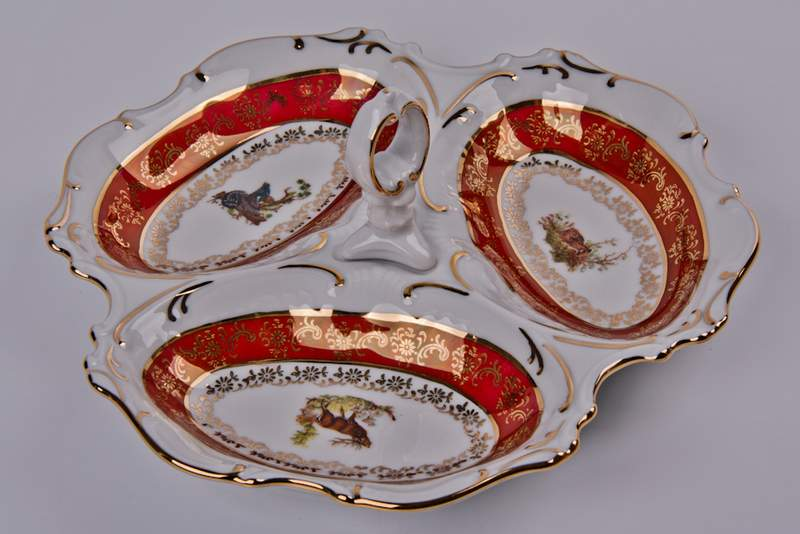 Охота красная Менажница Bavarian 21 см 3 секции