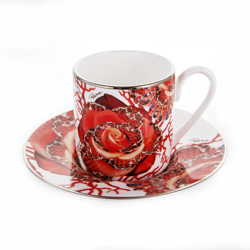 Роза Джевел Набор для кофе 120 мл Roberto Cavalli
