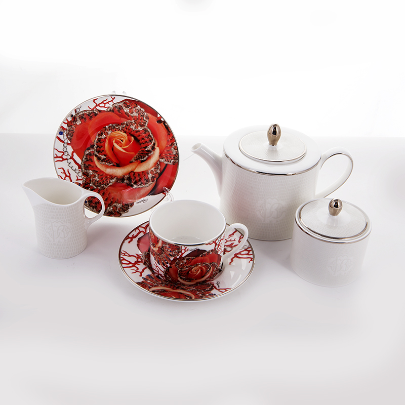 Роза Джевел Сервиз чайный на 6 перс. 21 пред. Roberto Cavalli