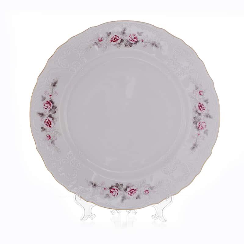 Бернадотт Серая роза золото 5396011 Блюдо круглое глубокое 32 см