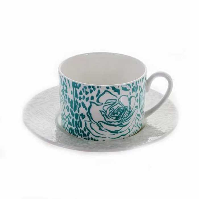 Макроза Колор Набор для чая Blumarine (чашка 220 мл+блюдце) на 6 перс. 12 пред.