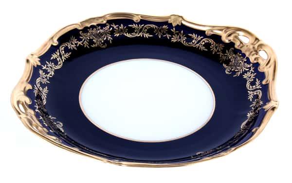 Ювел синий Блюдо круглое 28 см Weimar