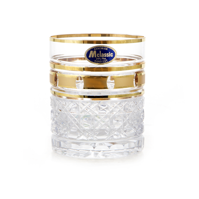Золотые окошки 4 Набор стаканов для виски Mclassic 280 мл. 6 шт.