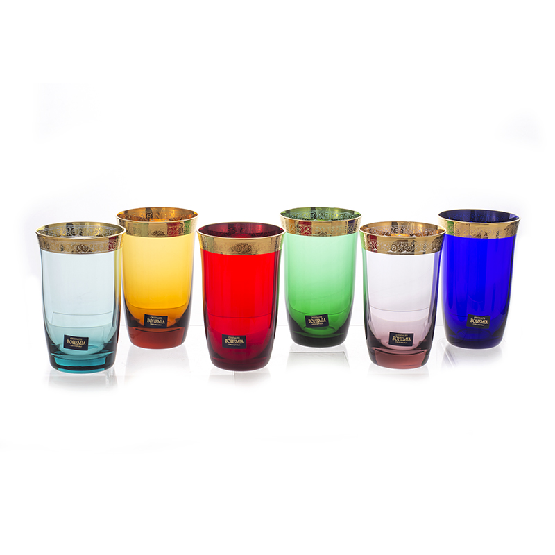 Джесси Колорс Набор стаканов для воды Kvetna 250 мл (6 шт)