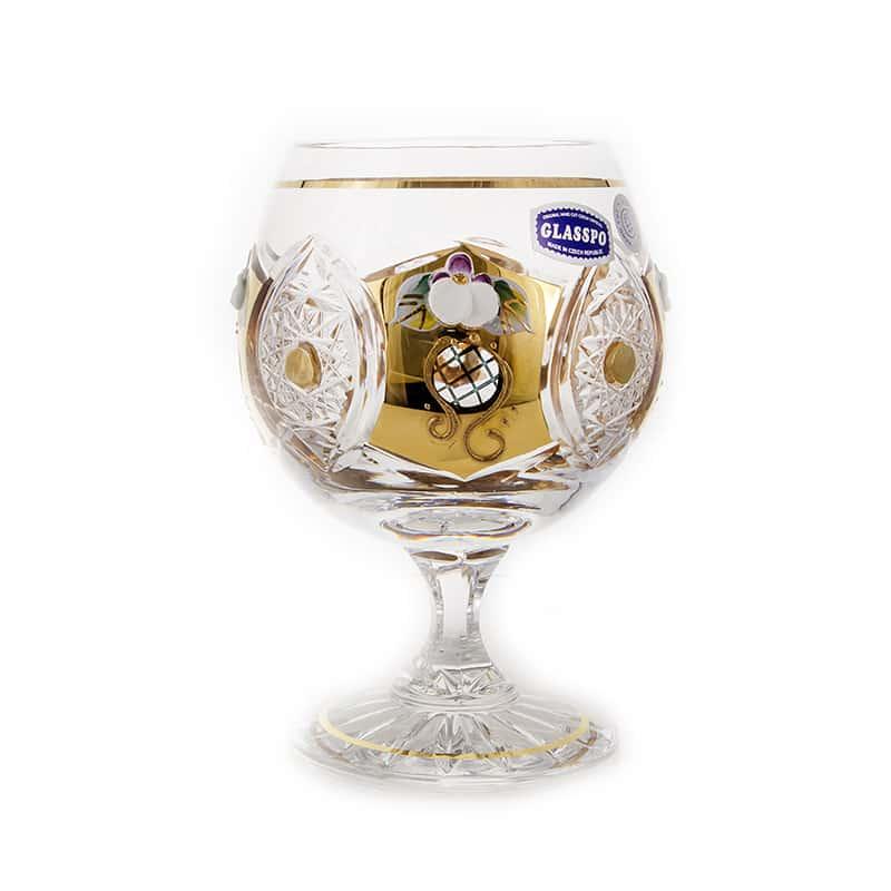 Хрусталь с золотом Набор бокалов для бренди Glasspo 250 мл