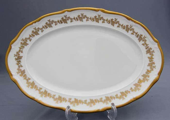 Барокко золото 202 Блюдо овальное Bavarian 28 см.