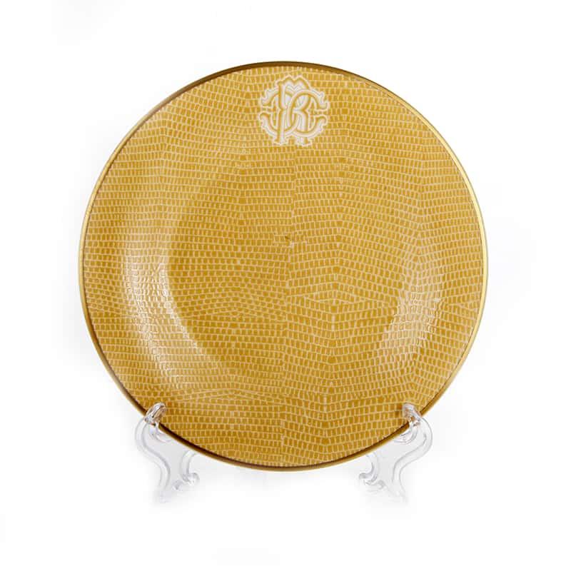 Лиззард Голд Набор десертных тарелок Roberto Cavalli 15,5 см