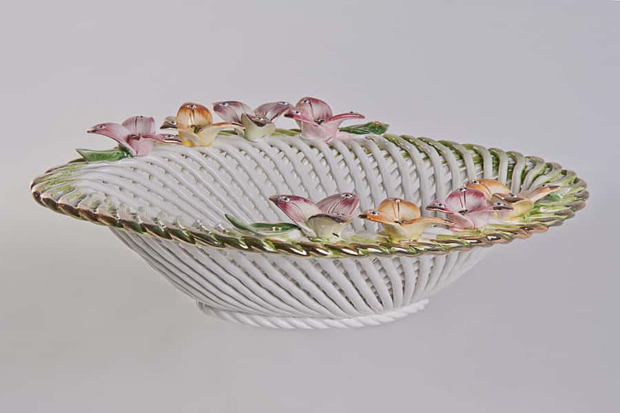 Цветы Ваза для фруктов Lanzarin Ceramiche 34х27х10 см 19524