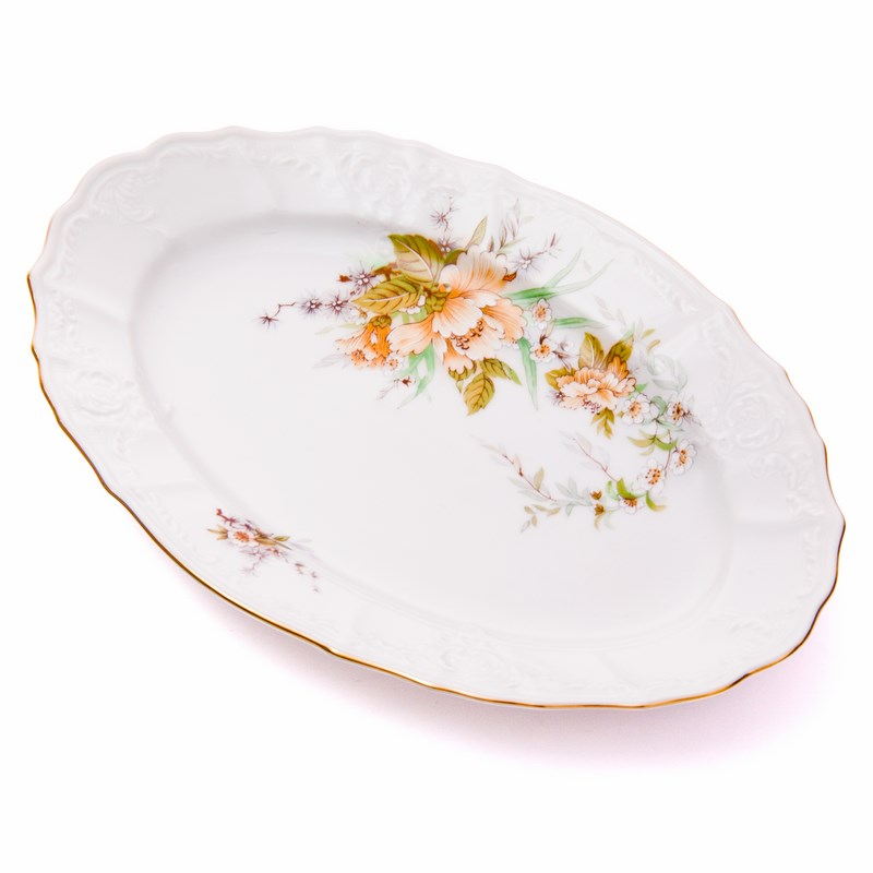 Бернадот Дикий лопух 23011 Блюдо овальное 24 см