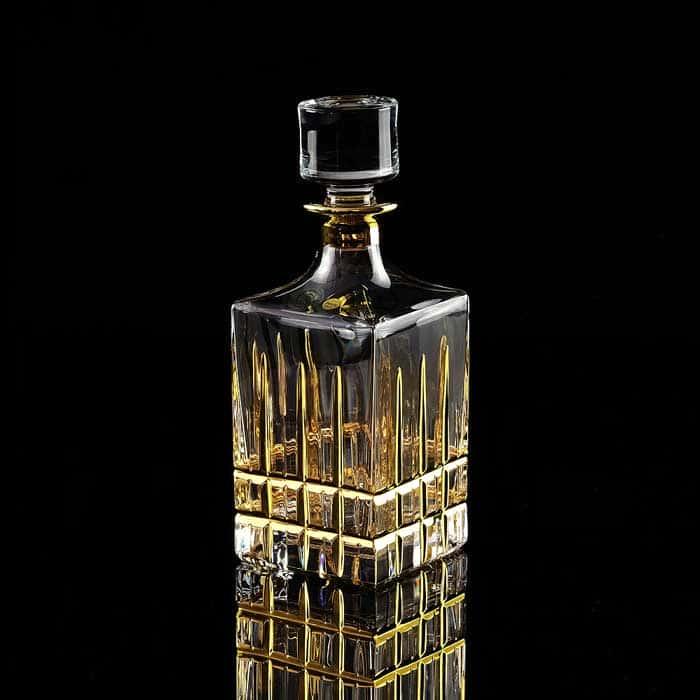 BARON Графин 0,85 л. H23 см, хрусталь/декор золото24К