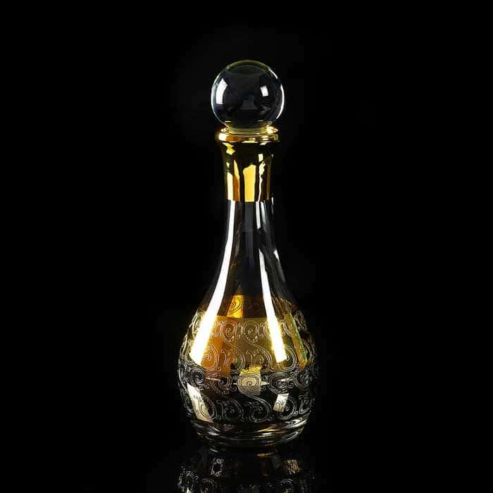 CREMONA Графин 1 л. H33 см, хрусталь/декор золото 24К