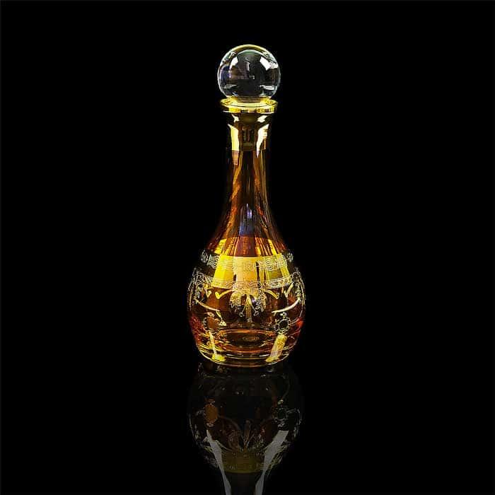DINASTIA AMBRA Графин 1 л. H33 см, хрусталь янтарный/декор золото 24К