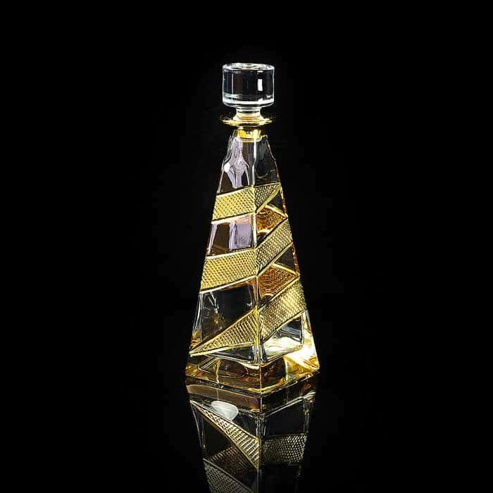 IDALGO Графин для виски 1 л. H32 см, хрусталь янтарный